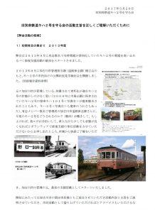 旧別府鉄道キハ2号守る会活動スタートの経緯について(統合説明資料)