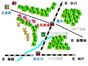 北条鉄道路線図
