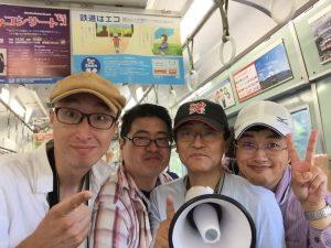 粟生駅電車車内にて02