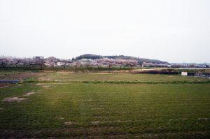 神鉄粟生線の車窓