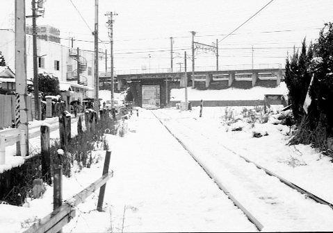 別府鉄道別府港・新幹線交差