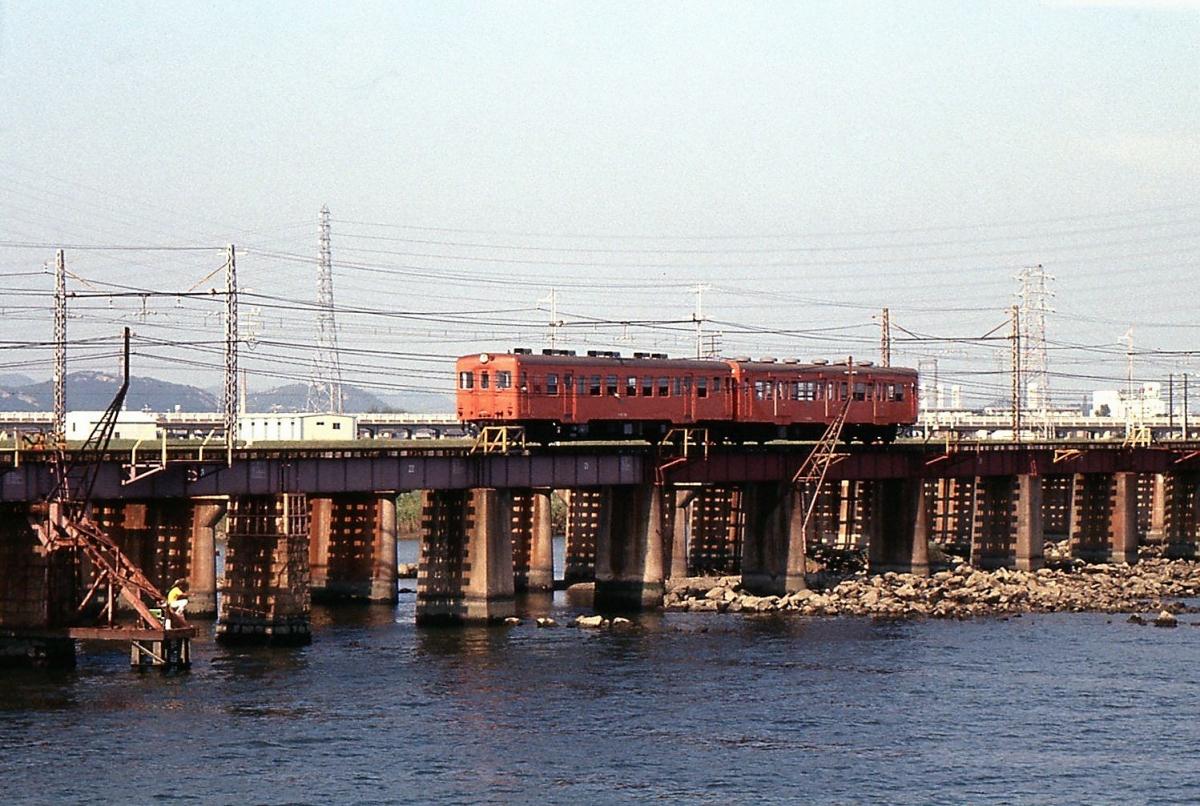 高砂線キハ20系2連加古川橋梁